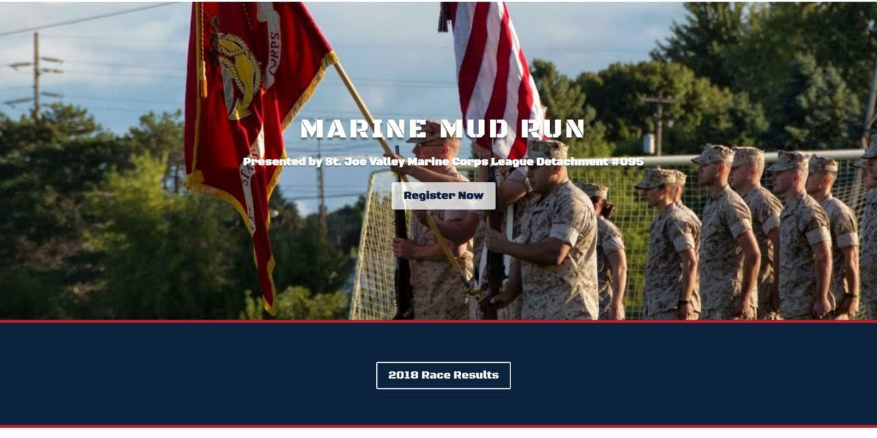 Marine Mud Run site launch