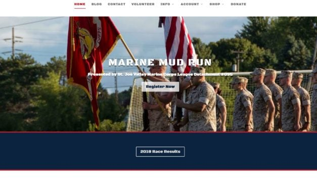 Marine Mud Run site launch