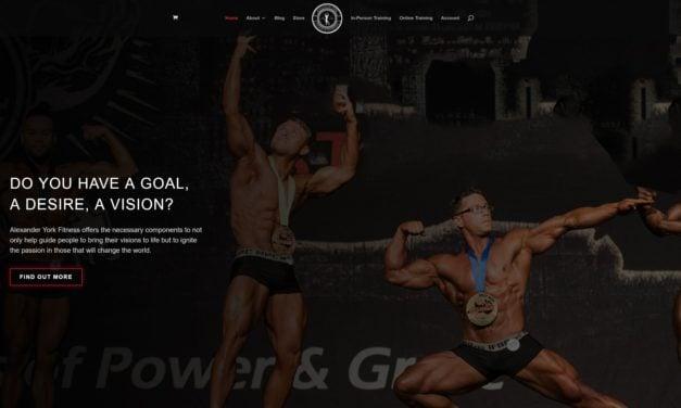 Alexander York Fitness site launch
